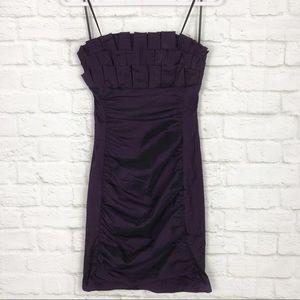 Xscape by Joanna Chen Strapless Mini Formal Dress